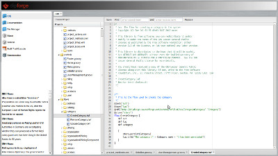 Web IDE Screen shot